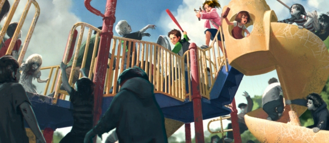 zombie-children-playground-battle