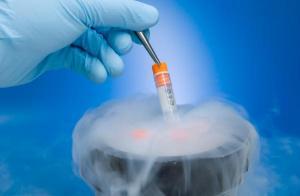 freezing sperm blue